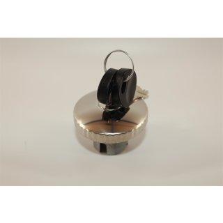 Tankdeckel rund in Chrom 30 mm abschließbar