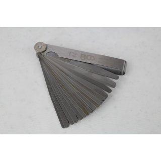 Fühlerlehren 17 Stk. 0,02 - 1,00 mm