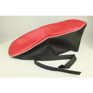Kreidler Sitzbezug Rot / Schwarz Florett