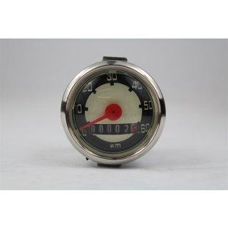 Tacho 0 - 60 km/h Universal 48 mm